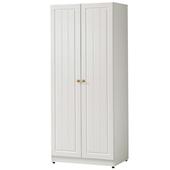《時尚屋》G15 鄉村風純白2.5尺雙門衣櫃023-2