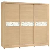 《時尚屋》G15 白橡色金圓滿7尺衣櫃033-8