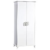 《時尚屋》G15 艾蜜麗亮烤白2.7尺衣櫃029-2