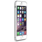 《LOVE MEI》iPhone6 Plus 簡約輕薄海馬扣金屬邊框(銀色)