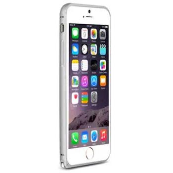 LOVE MEI iPhone6 Plus 簡約輕薄海馬扣金屬邊框(銀色)