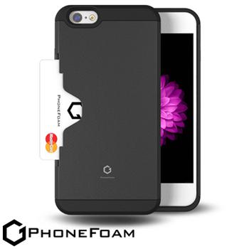 PhoneFoam Golf Fit iPhone 6 Plus插卡式防震保護殼 送iPhone6 Plus (5.5吋) HC高清超透螢幕保護貼(灰色)