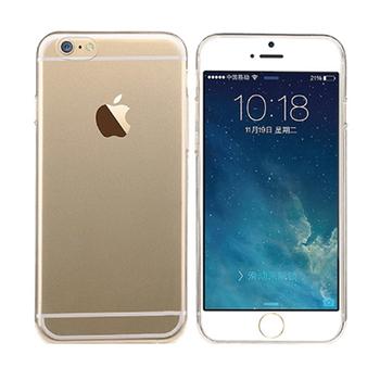 iPhone6 0.5MM 極薄超輕量透明水晶保護殼 贈保護貼(4.7吋)