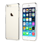 《TOTU》iPhone6 Plus 清風 質感邊框保護殼_贈保護貼(銀)