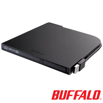 BUFFALO 超薄型攜帶式DVD燒錄機DVSM-PT58U2V(黑)