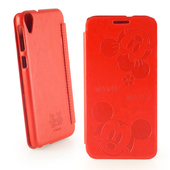 《Disney》HTC Desire 820 dual sim 可愛米奇米妮時尚壓紋皮套(可愛米奇米妮)