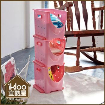 ikloo 好心情可疊收納箱-13L (3入一組)