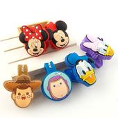 《Disney》可愛大頭造型五金扣捲線器/集線器(唐老鴨X黛西)