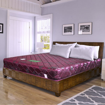 時尚屋 緹花蓆面3尺單人硬式彈簧床墊Q1-008(紅色)