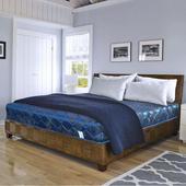 《時尚屋》緹花蓆面5尺雙人硬式彈簧床墊Q1-005(藍色)