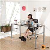 《BuyJM》尼克環保低甲醛防潑水160公分穩重型工作桌/電腦桌(胡桃色)