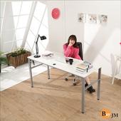 《BuyJM》雅倫環保低甲醛鏡面160公分穩重型工作桌/電腦桌(白色)