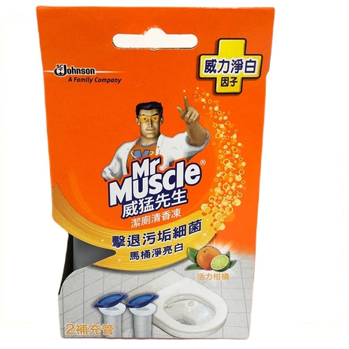 威猛先生 潔廁清香凍補充管-活力柑橘(38g*2)
