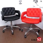 《LOGIS》狄尼洛化妝椅/事務椅/書桌椅/電腦椅(紅鐵腳)