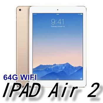 Apple iPad Air2 WI-FI版 64GB 公司貨-送專用保護貼+觸控筆(金色)