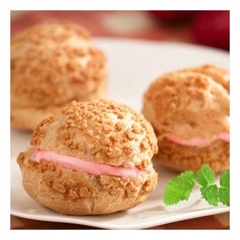 《京點洋果子》草莓冰淇淋泡芙2盒(12入/盒)