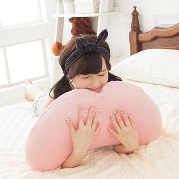 《歐卓拉》多功能彎月抱枕2入-粉