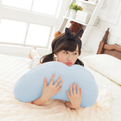 《歐卓拉》多功能彎月抱枕2入-藍