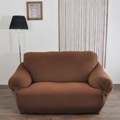 《歐卓拉》典雅涼感彈性沙發便利套-咖1+2+3人