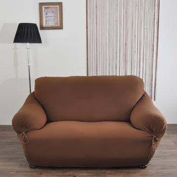 《歐卓拉》典雅涼感彈性沙發便利套-咖2人