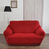 《歐卓拉》典雅涼感彈性沙發便利套-紅3人