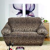 《歐卓拉》叢林狂想曲彈性沙發便利套-豹紋3人