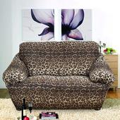 《歐卓拉》叢林狂想曲彈性沙發便利套-豹紋2人
