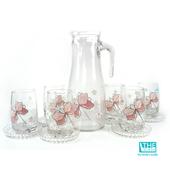 《THE GLASS》優質小紅花玻璃水杯禮盒(TG-GCN30AH)