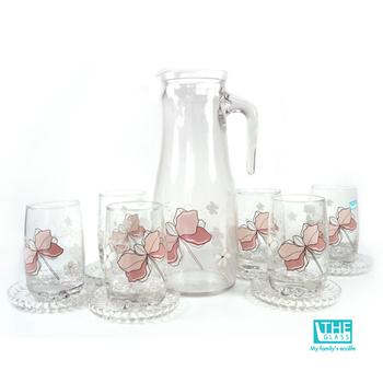 THE GLASS 優質小紅花玻璃水杯禮盒(TG-GCN30AH)