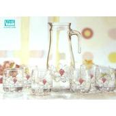 《THE GLASS》優質小紅花玻璃水壺組(TG-GI851AE)