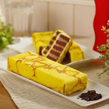 《艾葛》巧克力脆片金磚蛋糕(二片裝)