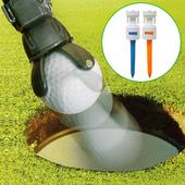 《GREEN CADDY II》專利高爾夫不彎腰神奇撿球器+ DURA TEE II 高爾夫飛更遠超耐柔軟皇冠球釘2入組