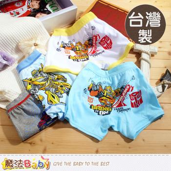 魔法Baby 男童內褲 台灣製變形金剛四角內褲(4件組) ~k39092(L)