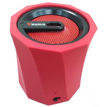 MARUS馬路 可插卡重低音行動藍牙喇叭+免持通話-紅色(紅色)