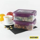 《VICTORY》800ml長形扣式食物密封保鮮盒(2入組)