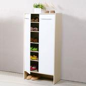 《Homelike》日式雙門高鞋櫃(二色可選)(楓木/白色)