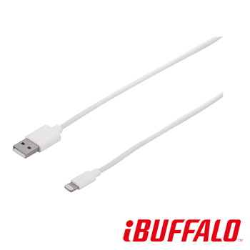 BUFFALO APPLE Lightning 專用傳輸線(蘋果認證)-1.2M(白)