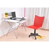 《NaikeMei【耐克美】》【耐克美】艾莉Eli馬鞍皮氣壓升降電腦椅(無扶手款)(紅色)