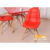 《NaikeMei【耐克美】》【耐克美】薇蘿拉Valora-鈕扣木腳造型椅(紅色)