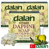 《土耳其dalan》傳統工法手工系列3入團購組(月桂橄欖油潔膚皂x3)