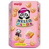 《Meiji》明治HELLO PANDA草莓夾心餅乾(175g/盒)