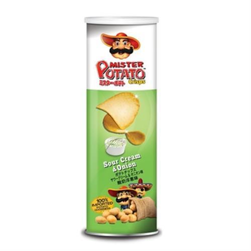MISTER POTATO 薯片先生-酸奶洋蔥味(160g/罐)