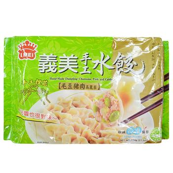 義美 手工水餃-茶豆豬肉高麗菜(774g/包)