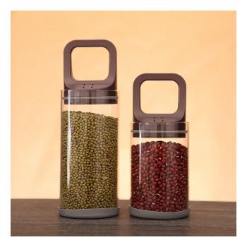 《Bunny》真空抽拉式耐高溫玻璃保鮮密封罐儲物罐(二入)