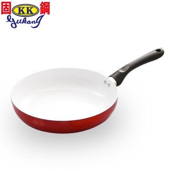 ★結帳現折★固鋼 紅色法拉利白陶瓷平煎鍋26cm(紅白小*1)