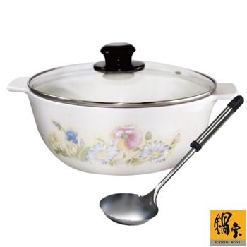 鍋寶 日本製太空陶瓷三用鍋-附不鏽鋼湯杓(EO-ED51Y01Y02RG007)