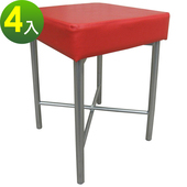 《頂堅》[厚型沙發椅座]7公分泡棉椅座/休閒椅/化妝椅-4件/組(紅色椅面)