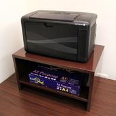 《頂堅》(鐵板製)桌上型-置物架/印表機架/傳真機架(二色可選)-2入組(深咖啡色)