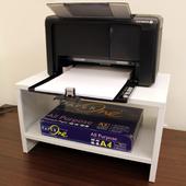 《頂堅》(鐵板製)桌上型-置物架/印表機架/傳真機架(二色可選)-1入組(素雅白色)