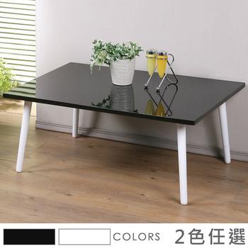 Homelike 東京和室桌-時尚亮面(二色任選)(黑色)